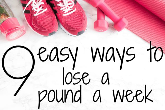 Here are 9 easy ways to lose at least 1 pound a week! This is such a great list.
