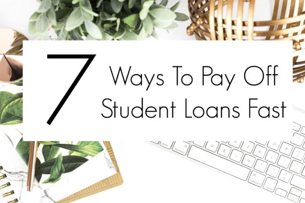 Check out this list on how to pay off student loans quick. This list was so helpful in creating a plan to pay off student loans.