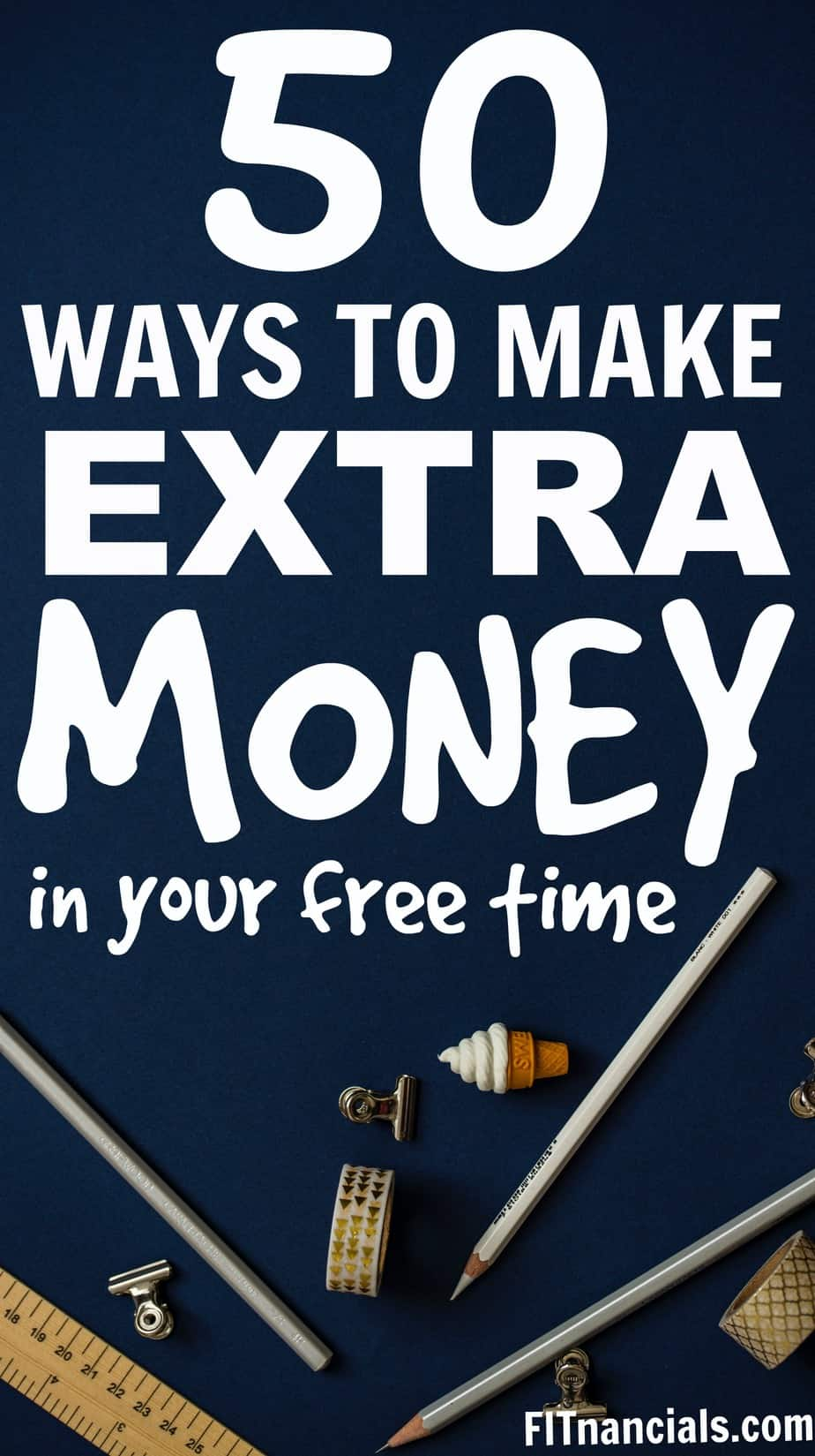 50+ ways to make extra money at home, online, or nearby. Check out this great list!