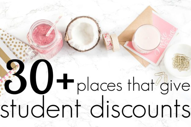Check out this list of student discounts to save money on clothes, electronics, food, and tons more! This is such a helpful list.