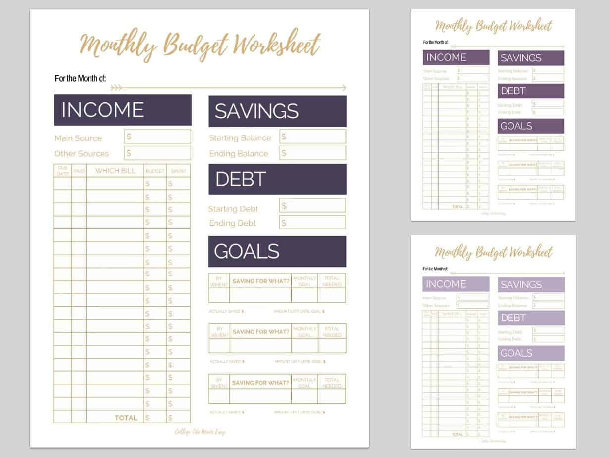 30 Free Monthly Budget Printables That Are Proven To Help You Pay ...