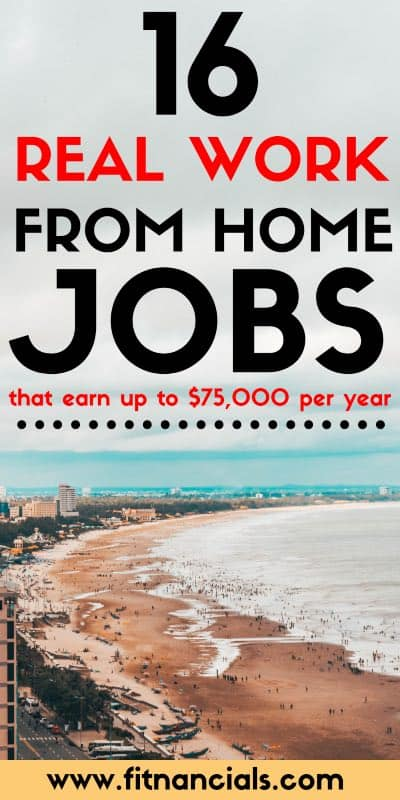 16 Real Work From Home Jobs That Make Up To $75,000 A Year